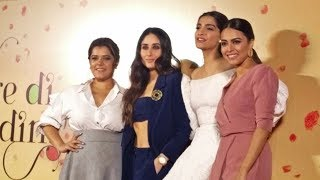 Veerey Di Wedding.Kareena Kapoor Swara Bhaskar Sonam Kapoor On Stage At Veerey Di Wedding Trailer Launch Video Id 341f9c987c37cb Veblr Mobile