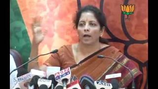Shungloo Committee Report & Black Money Issue: Smt. Nirmala Sitharaman: 29.03.2011