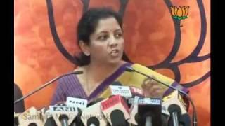 Shunglu Committee Reports & Lokpal Bill in Corruption: Smt. Nirmala Sitharaman 11.04.2011