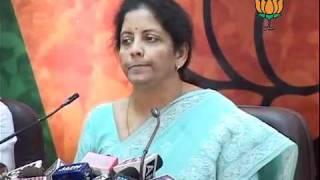 Chargesheet on Kanimozhi: Smt. Nirmala Sitharaman: 25.04.2011
