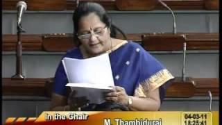 Rail Budget 2011-12 & Supplementary Demands for Grants: Smt. Jayshreeben Kanubhai Patel: 04.03.2011