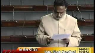 Rail Budget 2011-12 & Supplementary Demands for Grants (Railways): Sh. Rajan Sushant: 04.03.2011