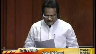 Rail Budget 2011-12 & Supplementary Demands for Grants (Railways): Sh. Shivarama Gauda: 07.03.2011