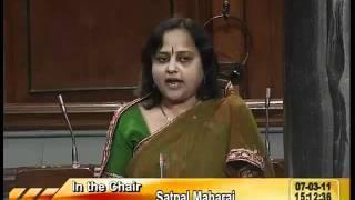 Rail Budget 2011-12 & Supplementary Demands for Grants: Smt. Jat Poonamben Veljibhai: 07.03.2011