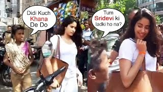 Beggar Asks For Food From Sridevi's Daughter Jhanvi Kapoor What Happens Next Will Melt Ur Heart