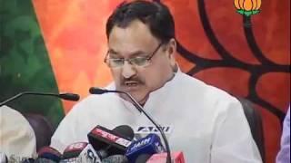 Congress DMK relation, Chidambram on 2g scam & shungloo report: Sh. Jagat Prakash Nadda: 25.05.2011