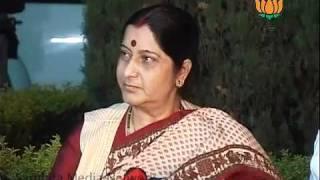 Sushma Swaraj byte: Smt. Sushma Swaraj: 07.06.2011