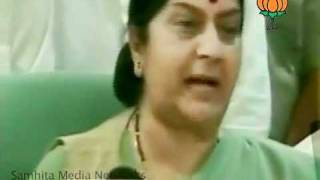 Meeting with Baba Ramdev in Haridwar: Smt Sushma Swaraj: 08.06.2011