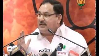 Congress Reaction on Anna Hazare & Baba Ramdev  Statement: Sh. Jagat Prakash Nadda: 16.06.2011