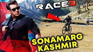 Salman Khan Riding Being Human Cycle In Sonamarg | RACE 3 Shooting In Sonamarg