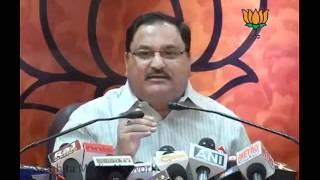 Failure of Rail Ministry, Govt in 2G Scam & Telangana Issue: Sh. Jagat Prakash Nadda: 11.07.2011