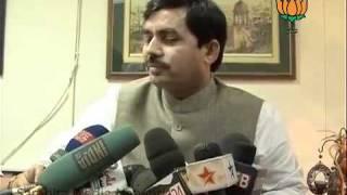BJP Byte on Lokpal Bill: Sh. Syed Shahnawaz Hussain: 30.07.2011