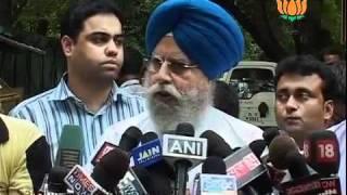 BJP Byte on NDA Meeting: Sh. S.S. Ahluwalia: 30.07.2011