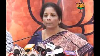 BJP Press: 2G Scam & S-Band Scam: Sh. Nirmala Sitharaman: 07.02.2011