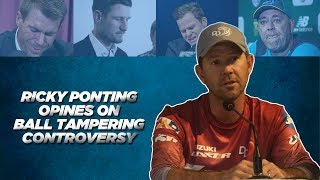 Ricky Ponting opines on Sandpaper gate