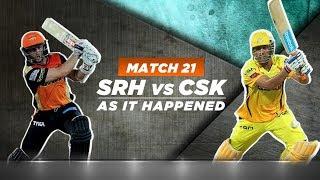 IPL 2018: Match 20, SRH v CSK: As it happened