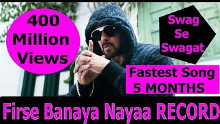 Swag Se Swagat Becomes Fastest Bollywood Song To Cross 40 Crores Views