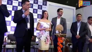 Gorgeous Esha Deol With Husband Bharat Takhtani At UBM - CBME Inauguration