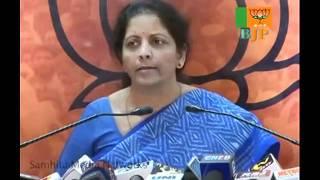 BJP Press: Dilip Padgaonkar's Statement: Smt. Nirmala Sitharaman: 24.10.2011