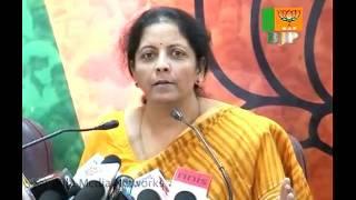 BJP Press: All Major Issues: Smt. Nirmala Sitharaman & Sh. Vijay Goyal: 25.10.2010