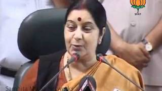 BJP Press: Lokpal Bill: Smt. Sushma Swaraj: 04.08.2011