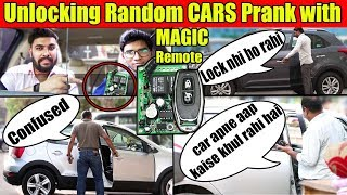 Unlocking the Cars of Public Experiment with CAR HackRF one Radio | Pranks in India 2018 | Unglibaaz