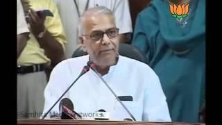 BJP Press:  Report of Ajay Maken in Parliament: Sh. Yashwant Sinha: 08.08.2011
