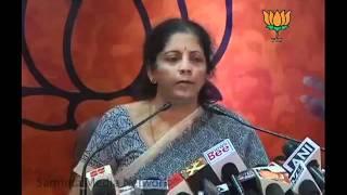 BJP Press: Gujarat &  Anna Hazare Issue: Smt. Nirmala Sitharaman: 13.08.2011