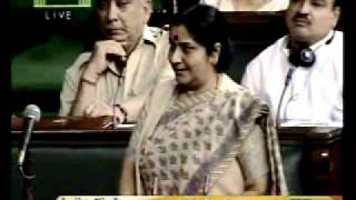 Statement of Leader of the house on the setting up a Lok Pal: Smt. Sushma Swaraj: 27.08.2011
