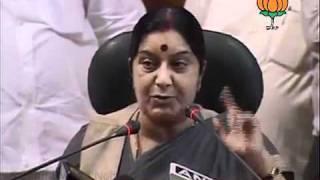 BJP Press:  Janlokpal Bill: Smt. Sushma Swaraj: 26.08.2011