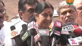 BJP Byte: Lokayukta  Meeting of BJP Leaders with President: Smt. Sushma Swaraj: 02.09.2011