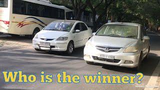 My Japani Engine Drag Race With Indian Honda city Engine