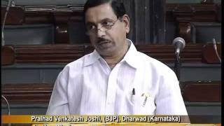 Matters of Urgent Public Importance: Sh. Pralhad Venkatesh Joshi: 17.08.2011