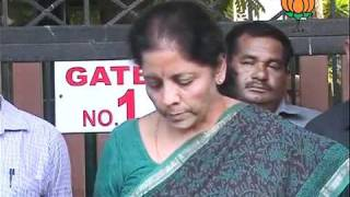 BJP Byte on Meeting of the National Office Bearers: Smt. Nirmala Sitharaman: 11.09.2011