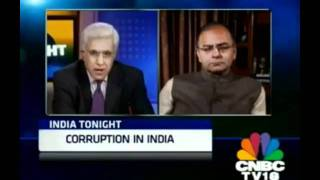 "Sh. Arun Jaitley on  ""India Tonight "" in CNBC Channel"