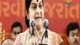 Speech in Sadbhavana Mission Fast Pragramme: Smt. Sushma Swaraj : 19.09.2011
