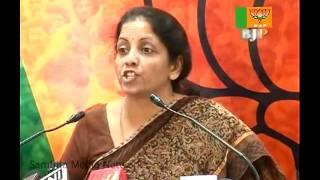 BJP Press: Good Governance in Kashmir Issue:  Smt. Nirmala Sitharaman: 28.10.2010