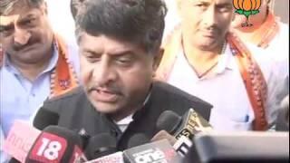 BJP Byte: Delhi Police Role on Cash For Vote Scam, UPA Govt: Sh. Ravi Shankar Prasad: 07.10.2011