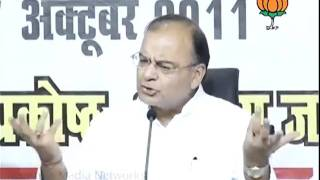 BJP Press: Jan Chetna Yatra Media Workshop: Sh.  Arun Jaitley: 07.10.2011