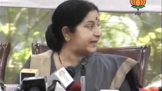Speech in Mahila Morcha Programme: Smt. Sushma Swaraj: 08.10.2011