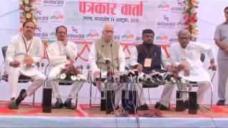 Press Meet: Jan Chetna Yatra from Satna: Sh. L. K. Advani: 14.10.2011
