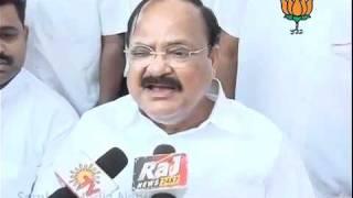 BJP Byte on  Telangana Issue: Sh. Venkaiah Naidu: 16.10.2011