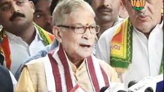 BJP Byte: Hisar Election: Sh.  Murli Manohar Joshi: 17.10.2011
