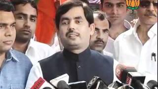 BJP Byte: Hisar Election: Sh. Syed Shahnawaz Hussain: 17.10.2011