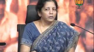 BJP Press:  2G Scam, Farming Charges & P. Chidambaram: Smt. Nirmala Sitharaman: 22.10.2011