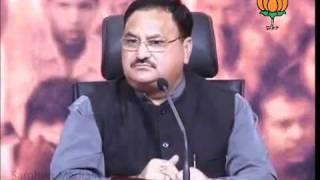BJP Press on Black Money & Corruption:  Sh. Jagat Prakash Nadda: 02.11.2011