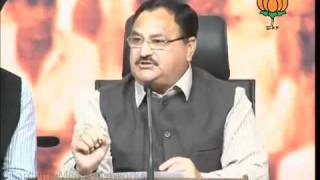 BJP Press: 2G Scam, Cash for Vote, CBI & P. Chidamabaram: Sh. J. P. Nadda: 18.11.2011