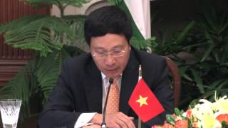 Visit of Minister of Foreign Affairs of the Socialist Republic of Vietnam: Joint Media Interaction