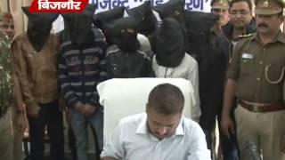 बिजनौर पुलिस ने किया 9 शातिर बदमाशो को गिरफ्तार