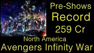 Avengers Infinity War Record Breaking Collection In North America For Pre Shows